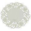 <strong>Xia Home Fashions</strong> Daisy Lace Embroidered Cutwork Round Doily (Set of 4)
