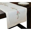 Xia Home Fashions Roses Embroidery with Hand Rendered Cutwork Table Runner