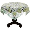 <strong>Vineyard Embroidered Cutwork Table Topper</strong> by Xia Home Fashions