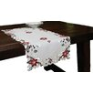Xia Home Fashions Festive Yule Embroidered Table Runner