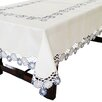Xia Home Fashions Cutwork with Embroidered Flower Table Topper