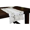 Xia Home Fashions Magnolia Embroidered Cutwork Table Runner