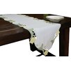 Xia Home Fashions Spring Tulip Embroidered Cutwork Table Runner