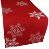 Xia Home Fashions Christmas Embroidered with Snowflakes Table Runner