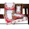 Xia Home Fashions Poinsettia Lace Dining Linens Collection