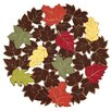 Xia Home Fashions Forest Blanket with Poly-Suede Cutwork Round Doily (Set of 4)