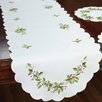 Xia Home Fashions Mistletoe Embroidered Table Runner