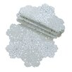 <strong>Shimmer Snowflake Embroidered Cutwork Doily (Set of 4)</strong> by Xia Home Fashions