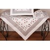 Xia Home Fashions Classic Holly Embroidered Cutwork Holiday Table Topper