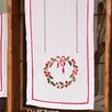 Xia Home Fashions Country Wreath Embroidered Hemstitch Holiday Table Runner