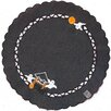 <strong>Haunted House Embroidered Cutwork Round Placemat (Set of 4)</strong> by Xia Home Fashions