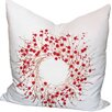 Xia Home Fashions Holiday Berry Wreath Pillow