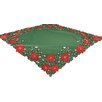 Xia Home Fashions Holly Leaf Poinsettia Table Topper