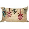<strong>Xia Home Fashions</strong> Christmas Ribbon with Ornaments Pillow