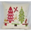 <strong>Xia Home Fashions</strong> Christmas Ribbon with Tree Pillow