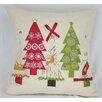 Xia Home Fashions Christmas Ribbon with Tree Pillow