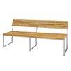 Mamagreen Oko Teak / Stainless Steel Park Bench