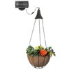 Gama Sonic Hanging Solar Outdoor LED Spotlight with Planter Basket