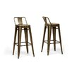 "Wholesale Interiors Baxton Studio French Industrial 30.25"" Bar Stool (Set of 2)"