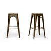 """Wholesale Interiors Baxton Studio French Industrial 30.5"""" Bar Stool (Set of 2)"""