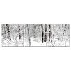 Wholesale Interiors Baxton Studio Winter Woods 3 Piece Photographic Print on Canvas Set