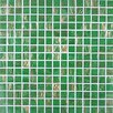 <strong>Gold Leaf Glass Tile in Classic Green</strong> by Giorbello