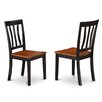 Wooden Importers Antique Side Chair with Wood Seat