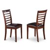 Wooden Importers Picasso Side Chair with Faux Leather Seat (Set of 2)