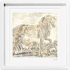 Oliver Gal Brilliant Equestrian Framed Painting Print