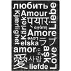 Oliver Gal Worldwide Love Textual Art on Canvas