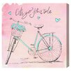 """Oliver Gal """"Pink Hearts Bicycle"""" by Olivia's Easel Canvas Art"""