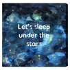 """Oliver Gal """"Sleep Under the Stars"""" by Olivia's Easel Canvas Art"""