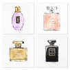 Oliver Gal 4 Piece 'My Perfumes' Graphic Art on Canvas