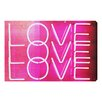 Oliver Gal 'Love Neon Lights' Textual Art on Canvas