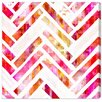 Oliver Gal Sugar Flake Herringbone Graphic Art on Canvas