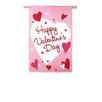 Evergreen Flag & Garden Happy Valentine's Day Vertical Flag