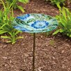 Evergreen Flag & Garden Poppy Paradise Bird Bath
