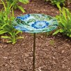 Evergreen Flag & Garden Poppy Paradise Birdbath
