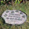 Evergreen Flag & Garden Paw Prints Garden Stone