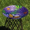 Evergreen Flag & Garden Monarch Floral Birdbath