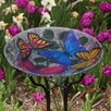Evergreen Flag & Garden Butterfly Collage Birdbath