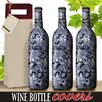 Kimco Products Pewter Paisley Wine Bottle Cover (Set of 3)