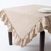 <strong>Saro</strong> Ruffled Design Tablecloth