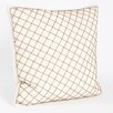 <strong>Saro</strong> Arlequin Diamond Design Beaded Pillow