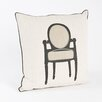 Saro Petite Chaise Chair Design Pillow