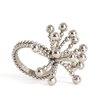 Saro Flower Design Napkin Rings (Set of 4)