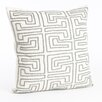Saro Maize Design Beaded Throw Pillow