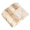 Saro Animal Print Design Faux Fur Throw Blanket