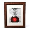 "<strong>Trademark Fine Art</strong> ""Red Apple Splash"" by Roderick Stevens Framed Photographic Print"