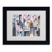 Trademark Fine Art Catherine Abel 'Still Life With Brown Jug' Matted Framed Art